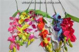 Preiswerter einzelner Stamm künstliche Cattleya Orchidee-Blumen für Verkauf