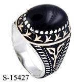 Jóia da forma 925 anéis de prata dos homens da CZ do anel do esmalte