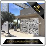 Painel de alumínio perfurado cortado laser exterior da cerca do metal de folha
