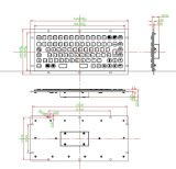 Het Industriële Toetsenbord van het metaal met Gelijke Sleutels, Beschikbare de Lay-out van de Douane