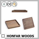 검은 호두나무 단단한 나무 장방형 쟁반 나무로 되는 기술
