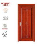 Porta de MDF de madeira padrão de design simples (GSP8-027)