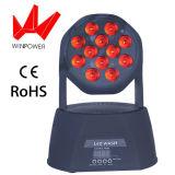 Miniwäsche-bewegliches Hauptstadiums-Effekt-Licht LED-12PCS 12W