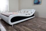 Кровать кожи конструкции мебели комнаты золотистой мебели плохая