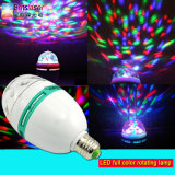 Proyector LED a todo color giratoria de la lámpara 3W E27 / B22 LED RGB Globo bombilla el mini LED Party
