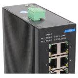 Commutateur réseau industriel de port Ethernet de 6 millions de bits avec la fibre 2