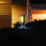 Luzes ao ar livre da coluna do diodo emissor de luz da paisagem da potência solar para o jardim