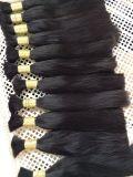 100 cheveux humains, armure malaisienne de cheveu de qualité