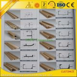 Perfil de alumínio anodizado expulso personalizado da mobília para a decoração das mobílias