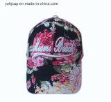 Бейсбольная кепка вышивки спортов изготовленный на заказ хлопка Burshed крышки вышивки выдвиженческая