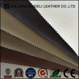 Tessuto di cuoio di struttura del PVC di disegno della traversa del litchi per la tappezzeria mobilia/del sofà