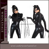 Быстрый комбинезон Catsuit латекса тела Clubwear кожи черноты поставки (TYLM77)