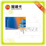 Tarjeta dominante de la salida del hotel rápido de la impresión RFID con la muestra libre