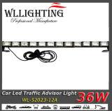 36W 호박색 백색 트럭 화살 지팡이 표시등 막대
