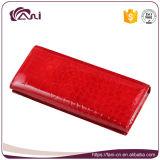 卸し売り赤いカラーワニの皮の本革の財布