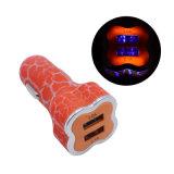 Gelo 5V/1A rachado. 5V/2.1A jejuam cobrando o carregador rapidamente cobrando do carro do USB do telefone de Samrt do telefone de pilha