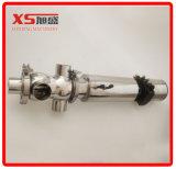 Soupape sanitaire de Mélanger-Épreuve de double portée de l'acier inoxydable Dn65 avec le C-Dessus