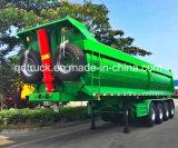 Un Tri-Asse da 80 tonnellate che capovolge rimorchio