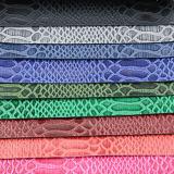 2017最も新しいヘビによって浮彫りにされるPU PVC袋の革(W166)