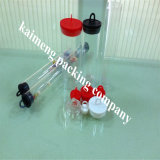 Feito na China Food Grade Clear PP Plástico Gift Packing Tubes para doces com Black Caps