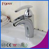 Fyeer Form-Badezimmer freilegter großer Wasserstrom-einzelner Griff-Chrom-Bassin-Hahn Hot&Cold Mischer-Hahn