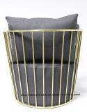 현대 복제 레저 커피 철강 싱글 소파 와이어 의자