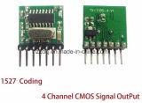 433のMHzの無線受信機および送信機リモート・コントロール学習コード1527年の解読のモジュールはボタンの学習と4 CH出力した