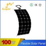 Panneau solaire flexible 100W des prix inférieurs de haute performance