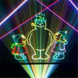 máquina do laser do partido do laser da animação de 6000MW RGB