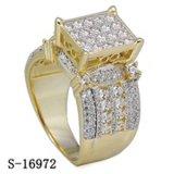 Hip кольца Micropave CZ кольца 925 повелительниц ювелирных изделий хмеля серебряные