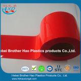 Дверь занавеса прокладки PVC винила достигаемости стандартная красная опаковая мягкая ровная
