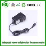 Prezzo di fornitore del caricabatteria 8.4V1a all'alimentazione elettrica per la batteria dello Li-ione con la spina personalizzata
