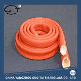 Caoutchouc de silicones de protection contre les incendies enduit de gainer de fibre de verre