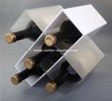 Caja de embalaje plástica clara del vidrio de vino