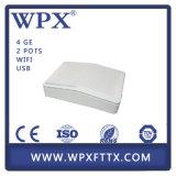 Huawei Zte Ont를 위해 양립한 WiFi Gpon 4ge+2FXS+WiFi