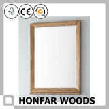 مستطيلة طبيعيّة خشبيّة مرآة إطار لأنّ دار زخرفة