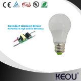 Lumière d'ampoule économiseuse d'énergie élevée de l'efficacité DEL d'A60 7W 9W 12W