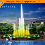 丸型カラー水プールの変更音楽噴水