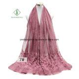 Связывать-Покрашенная ретро шаль шарфа хлопка 2 повелительниц солнцезащитный крем вышивки
