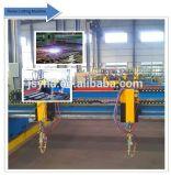 Condução lateral dobro da flama do CNC/da máquina estaca do plasma