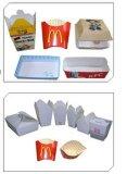Caixa automática cheia do Hamburger que dá forma à maquinaria