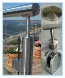 De Klem van het Glas van het Traliewerk van het glas voor de Balustrade van de Leuning van het Roestvrij staal