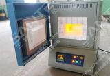 forno de mufla elétrico 100X100X100mm da fornalha do tratamento térmico 1800c