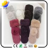 Algodão adulto impermeável da qualidade e da forma de Hian e luvas de couro do luva e as de lã e inverno com veludo dentro das luvas dos presentes relativos à promoção