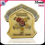 Médaille de commémoratif de bonne qualité Copie la monnaie d'or avec la couleur remplie