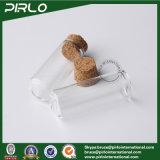 5ml木製のコルクストッパー空5ml化粧品のびんが付いている円形の最下の明確なガラスガラスびんの精油の香水のテスターのガラスビン