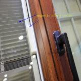 안쪽으로 셔터를 가진 최고 질 새로운 디자인 알루미늄 여닫이 창 유리창