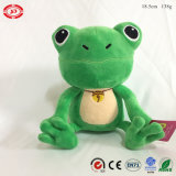 Assise Frog Qualité Green Plush Embroidery Eyes Cute Soft Toy