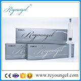 Injeção cutânea do enchimento do ácido hialurónico
