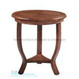 レストランの喫茶店(HW-1188T)のための方法純木の円形のダイニングテーブル